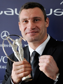 Виталий Кличко — знаменитый украинский боксёр.