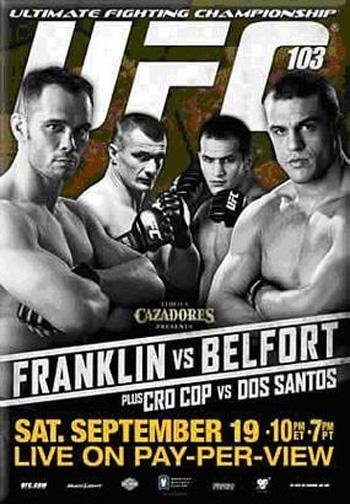 UFC 103: список поединков