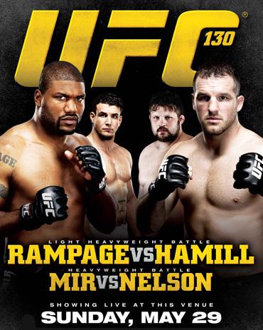 Результаты и видео турнира UFC 130: Rampage vs. Hamill