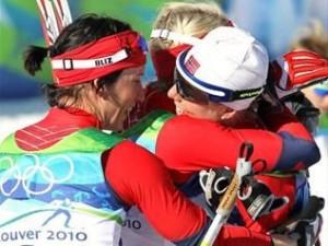Олимпиада: женская лыжная эстафета