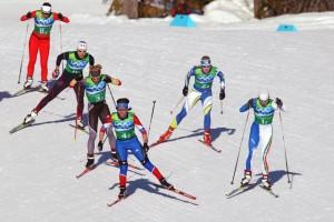 В командном спринте победили лыжницы Германии. Наши – третьи.