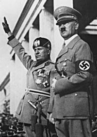 Муссолини - Гитлер