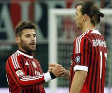 «Милан» победил «Сиену» и вышел в лидеры Серии А